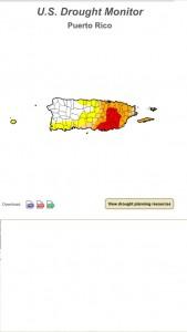 Mapa de sequía