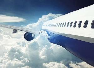 avion en el aire