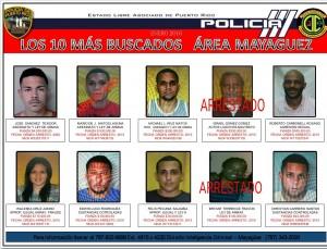 10 mas buscados mayaguez