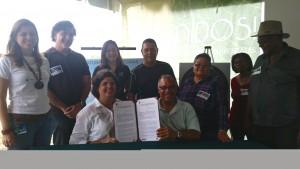 Firma de acuerdo DRNA - Maunabo