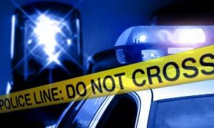 escena de crimen con azul