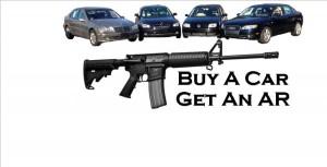 carro y rifle