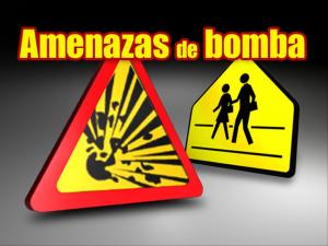 escena de amenaza de bomba