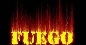 escena de fuego