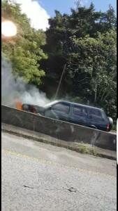 auto incendiado entre san german y hormigueros